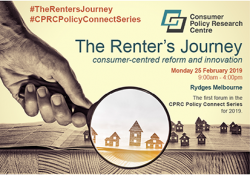 Consumer Policy Research Centre to launch new research report at upcoming event: The Renter's Journey preview image