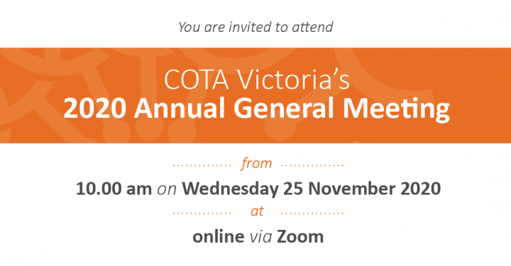 All members invited to COTA Victoria's Annual General Meeting preview image