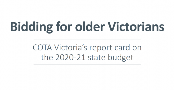 What is in the Victorian Budget for older people? preview image